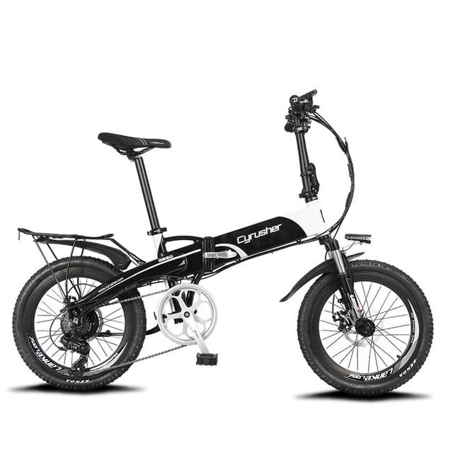 Cyrusher XF500 250 В Вт 48 в 7 скоростей складной электрический велосипед дисковый тормоз с умный велосипед компьютер белый