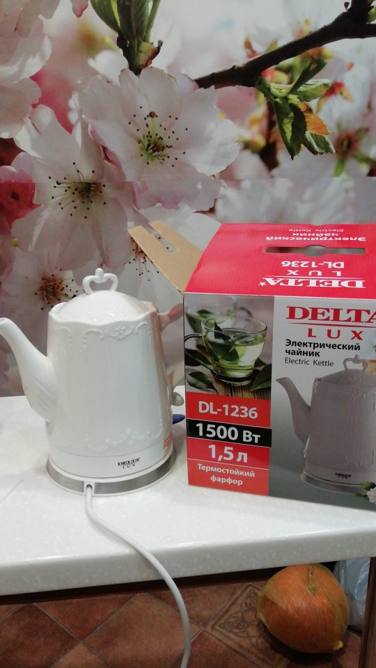 DL-1236 Electric ceramic kettle, 1.5L, 1500W, teapot anti-dry protect overheat protect safety auto-off function