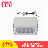 30W 220V EU Nail Dust Collector Durable ABS Nail Art Machine 3 Fans Manicure Vacuum Cleaner Nail Tools Low Noise HWC