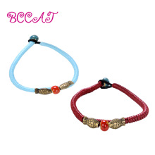 BCCAT 2pc custom couple Bracelet Handmade ceramic Beads Charm bangle fashion lucky Jewelry love gift