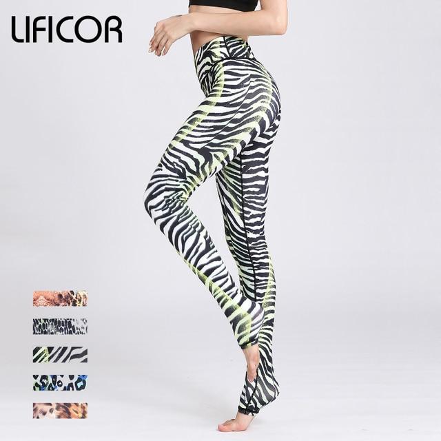 b197be3c5a28 Women Sexy Leopard Yoga Pants Fitness Sport Leggings Slim Female Athletic  Pants Running Tight Gym Print Slim Elastic High Waist