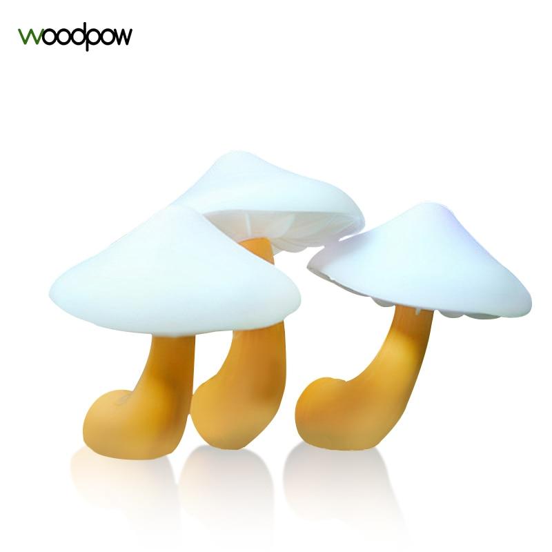 Woodpow Cute Mushroom LED Night Lights Light Sensor Atmosphere Lamp Auto Light EU/US Wall Socket Bedside Lamp For Baby Kids цена