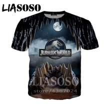 LIASOSO Anime Jurassic World 3d stampa t shirt t-shirt Donna casual dinosauro Harajuku Anime Divertente tees top horror tshirt d283(China)