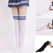 striped summer thin socks girls women student long socks stocking women knee high socks school girls sokken Harajuku hosiery