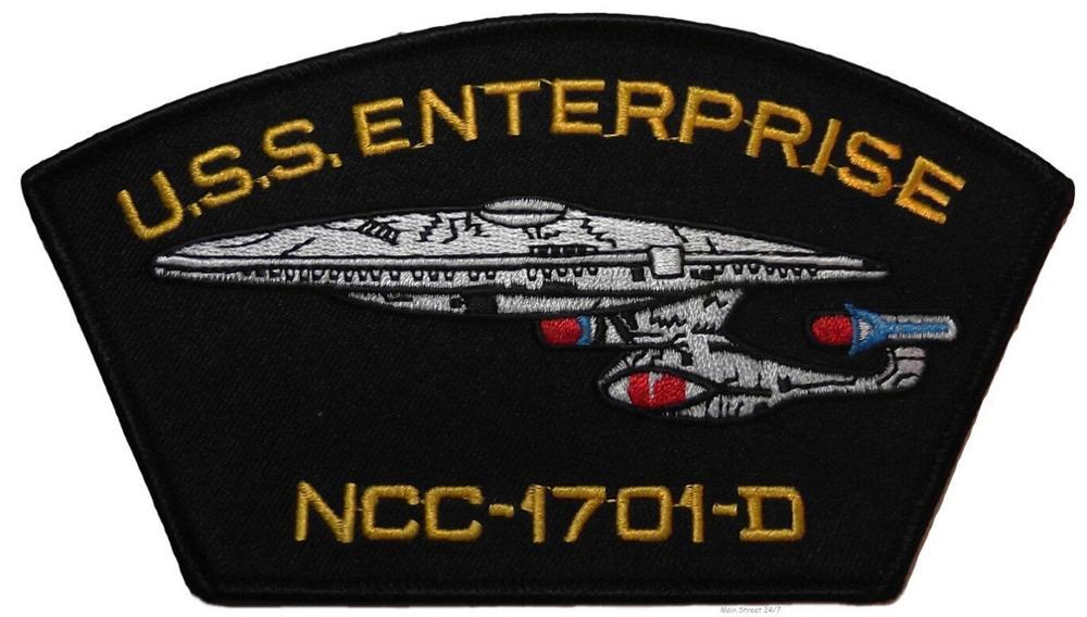 """4 """"TNG U S S gorra de béisbol de la serie de TV de la nave NCC 1701 D-in Parches from Hogar y Mascotas    1"""