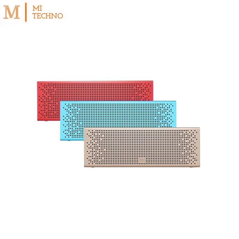 Origine Xiao mi mi haut-parleur bluetooth Portable En Métal 270g disifruta 8 h téléphone musique Fonction or couleur bleu Rouge.