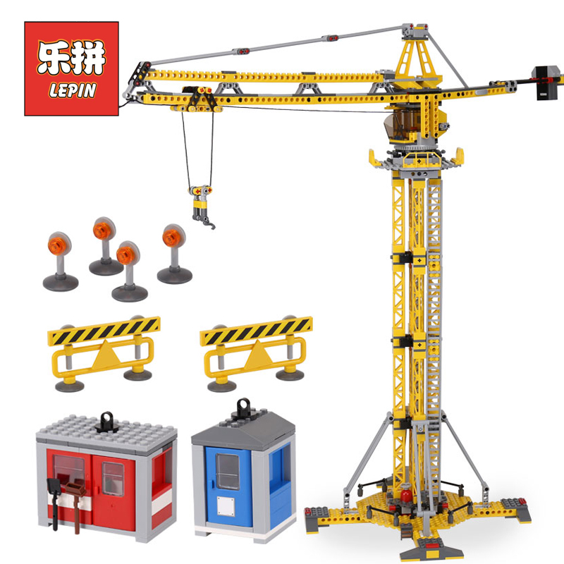Lepin 02069 City Series the Building Crane Set 7905 Building Blocks Bricks Legoinglys City Lifting Machine Children Toys Gift подъемник foshan city hui strong lifting wkto 4