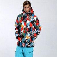 GSOU снег Для мужчин лыжная куртка сноуборд ветрозащитная куртка зимняя Костюмы Водонепроницаемый дышащая Лыжный спорт куртка мужской Откры