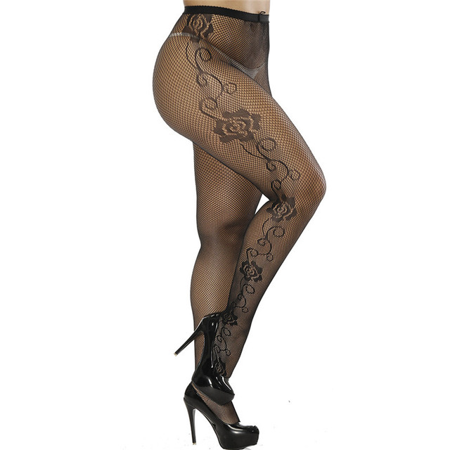 DOIAESKV Plus Size Tights Women Sexy Erotic Lingerie Pantyhose Sex Body Stockings Large Size Tights Sexy Women Fishnet Pantyhose 4