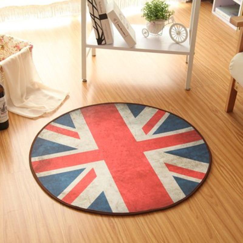 European style Diameter 60CM Round kids Carpets Rug for Living Room Fashion Bedroom Non-slip Chair Floor Mats for Home Doormat