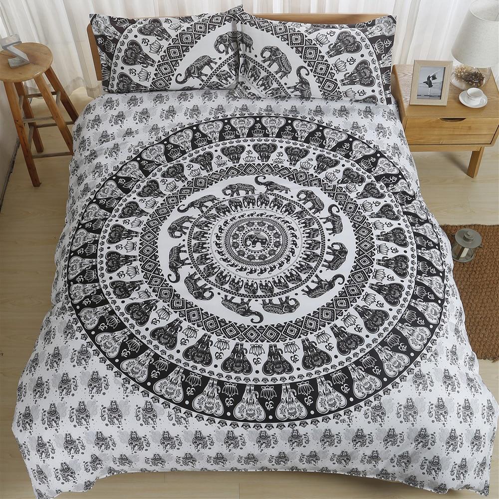 Bohemia boho 3D Bedding Set  Monocerus Print  Duvet cover set Twin queen king Beautiful pattern Real effect lifelike bedclothes