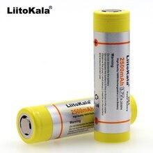 Liitokala 2 stücke neue Original HE4 LGDBHE41865 18650 batterie 3,7 v 2500 mah HE4 Lithium Power Batterie für Elektronische produkte