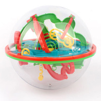 Large 100 Steps 3D Magic Intellect Maze Ball Track Puzzle Toy Perplexus Game Children Adult Magnetic