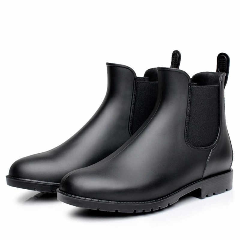 Herbst Schuhe Frau Casual Schuhe Wasserdicht Rain Frühling Outdoor Regnerischen Schuhe Mädchen Ankle Stiefel Wasser Schuhe Botines Mujer 2019