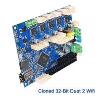 3D принтеры Запчасти Duet 2 Wi Fi V1.04 Клонировали материнская плата Duetwifi Панель плата контроллера Advanced 32 бит электроники RepRap для станка с ЧПУ