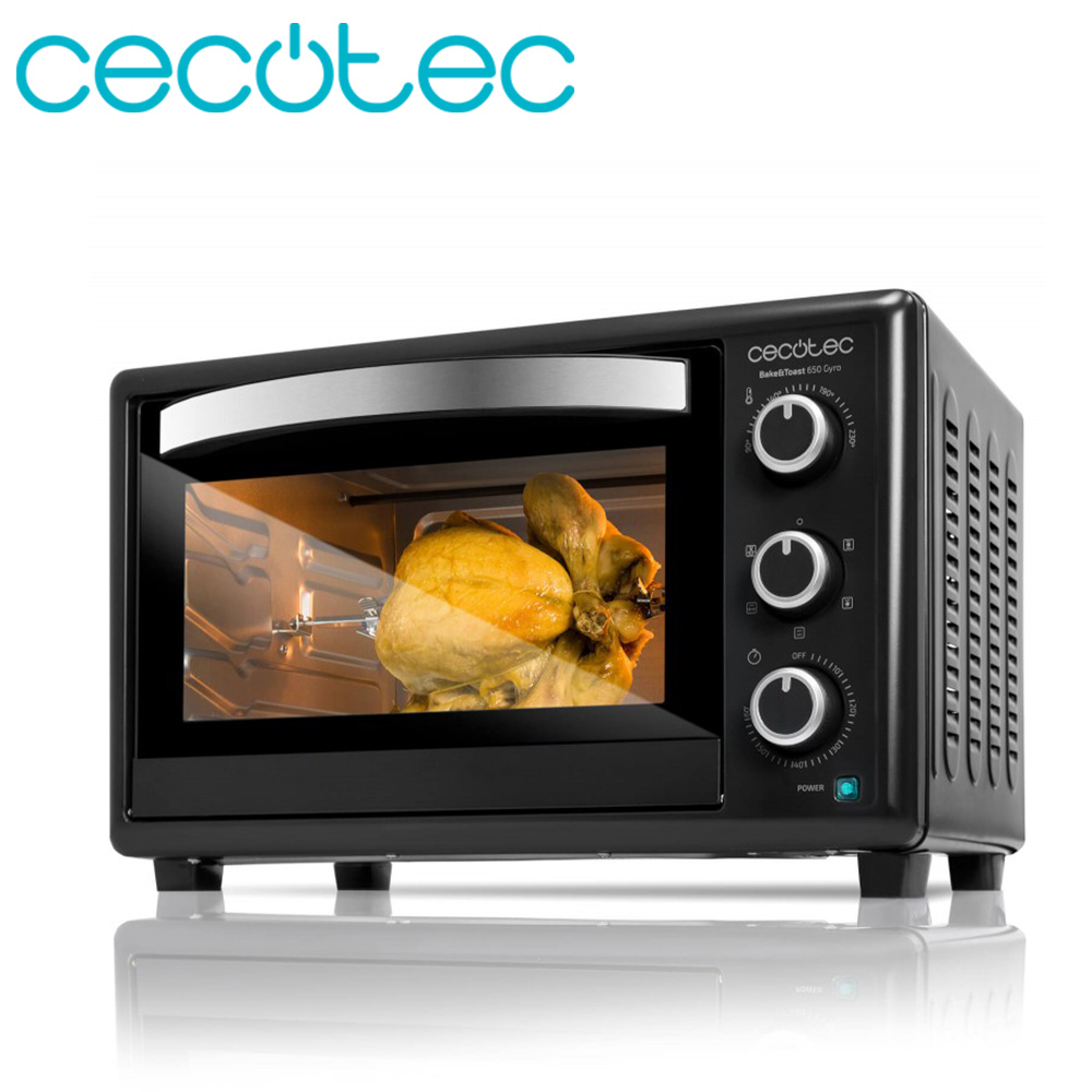 Cecotec Bake&Toast 650 Gyro Tabletop Electric Oven With 30 Liters Of Capacity Includes Easy Use And Clean Rotary Rustidor