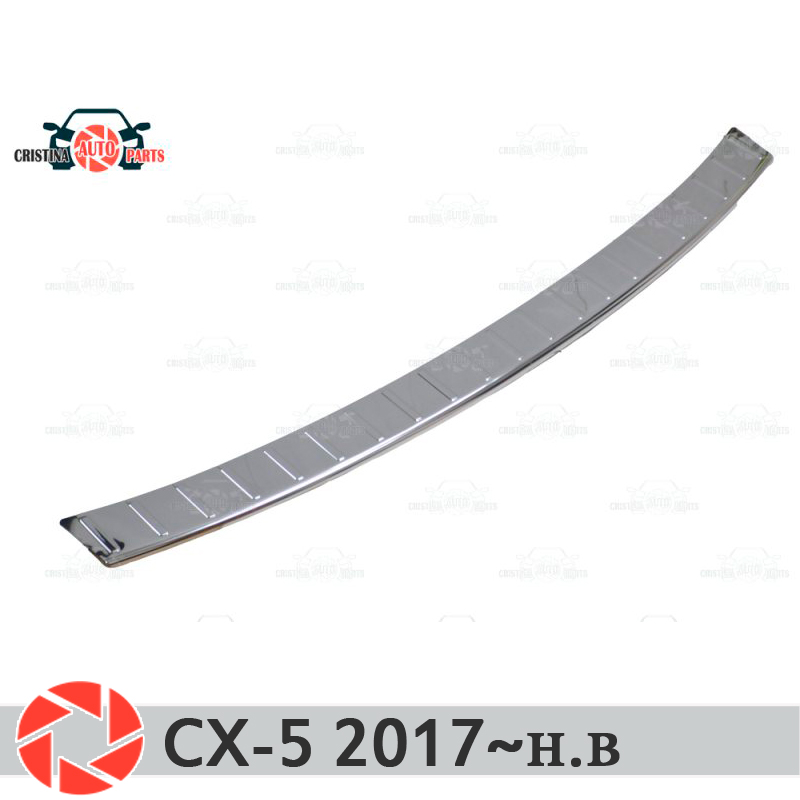Plate cover rear bumper for <font><b>Mazda</b></font> <font><b>CX</b></font> <font><b>5</b></font> <font><b>2017</b></font>~ guard protection plate car styling decoration accessories molding stamp image
