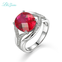 ФОТО i&zuan s925 silver red ruby wedding bands prong setting classic fashion hot sell rings for woman