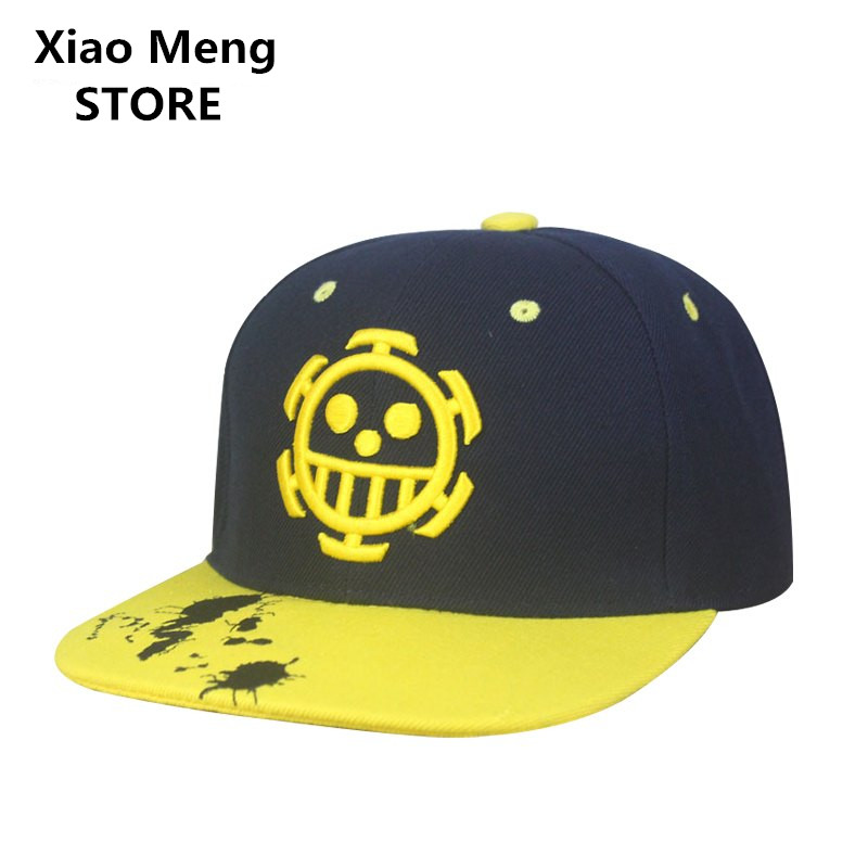 One Piece Baseball Cap Hat Japanese Anime Trafalgar Law Snapback Caps Women Men Flat-Along Hip Hop Trafalgar D Water Law Hat M24