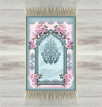 آخر الأزرق الوردي الورود العرقية ثلاثية الأبعاد طباعة التركية الإسلامية مصلاة للمسلمين السجاد Tasseled مكافحة زلة الحديثة سجادة للصلاة رمضان هدايا عيد