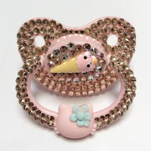 Image 1 - MIYOCAR độc đáo handmade bling hồng dành cho người lớn núm vú Dành Cho Người Lớn Có Kích Thước Dễ Thương Đá Quý Pacifier Dummy ABDL Silicone Núm Vú Núm Vú