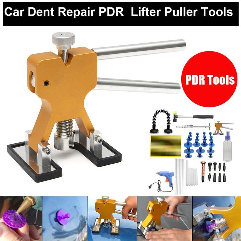 1Set/51Pcs PDR Tools Dent Puller Glue Tabs Puller Paintless Dent Removal Repair Tool for Car Repair with Glue-gun Hand Tools Set