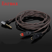 Earmax 4 4mm Earphone Cable OCC Silver Plating HIFI Audio Aux Cable Upgrade For Sennheiser HD650