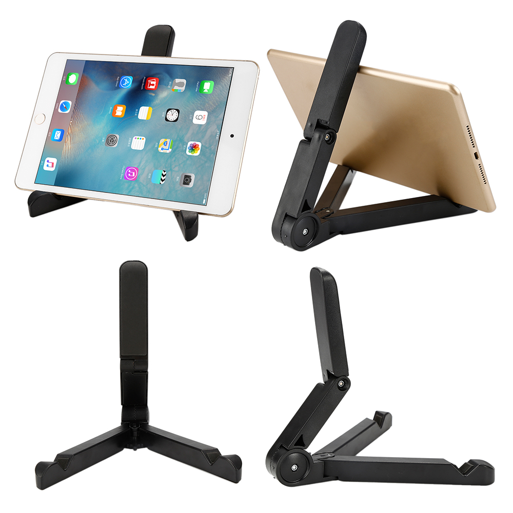 Universal Stand for Ipad Folded Desktop Tablet Bracket Cellphone Holder for Iphone 6 7 Plus for Samsung S6 S7 360 Degree Rotated