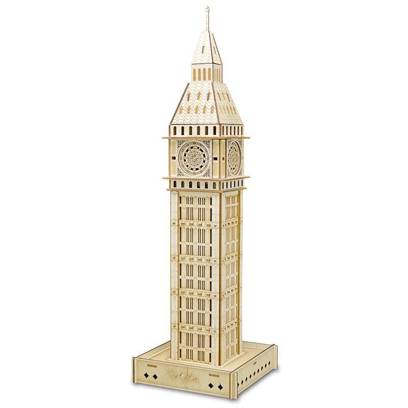Big Ben, royaume-uni ensemble de jouets modèle 3D bricolage montage en bois modèle kit laser technologie de découpe ensemble de juguetes modelo
