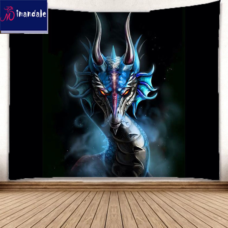 Gothic Dragon And Knight Tapestry Wall Hanging For Living Room Bedroom Decor Home Garden Bridgewaydigital Home Decor