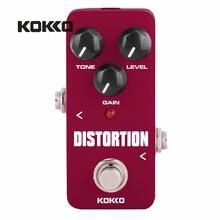 KOKKO FDS2 Mini Electric Bass Guitar Pedal de Distorsion Guitarra Ukulele Effects Portatil Partes Efectos Alta Calidad Parts