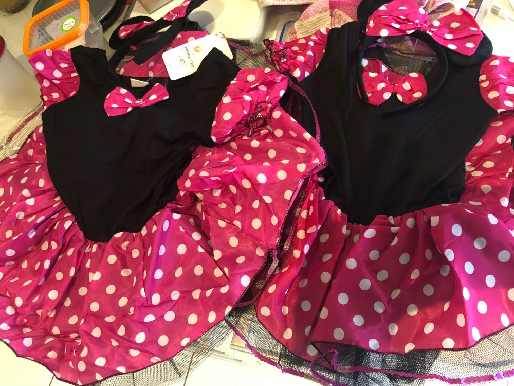 Girls Dresses Minnie Mouse Party Fancy Costume Cosplay Girls Ballet Tutu Dress+Ear Headband Girl Polka Dot Kids Clothing
