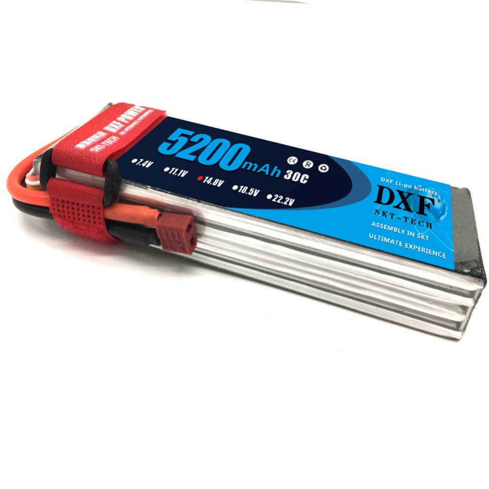 DXF 14.8v 5200mah 30c T Plug/XT60 Plug for Helicopter Boat Quodcopter Remote Controul toys 14.8 v battery 4s lipo batterty