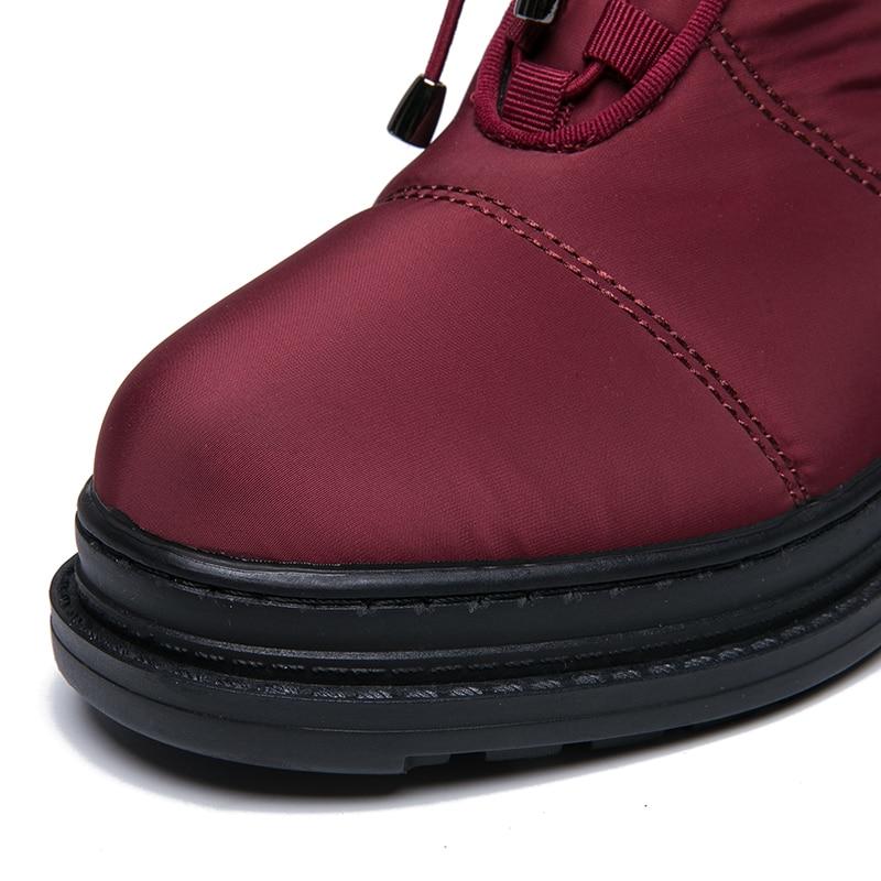 IMG_8274AIMEIGAO High Quality Warm Fur Snow Boots Women Plush Insole Waterproof Boots Platform Heels Red Black Winter Women Boots