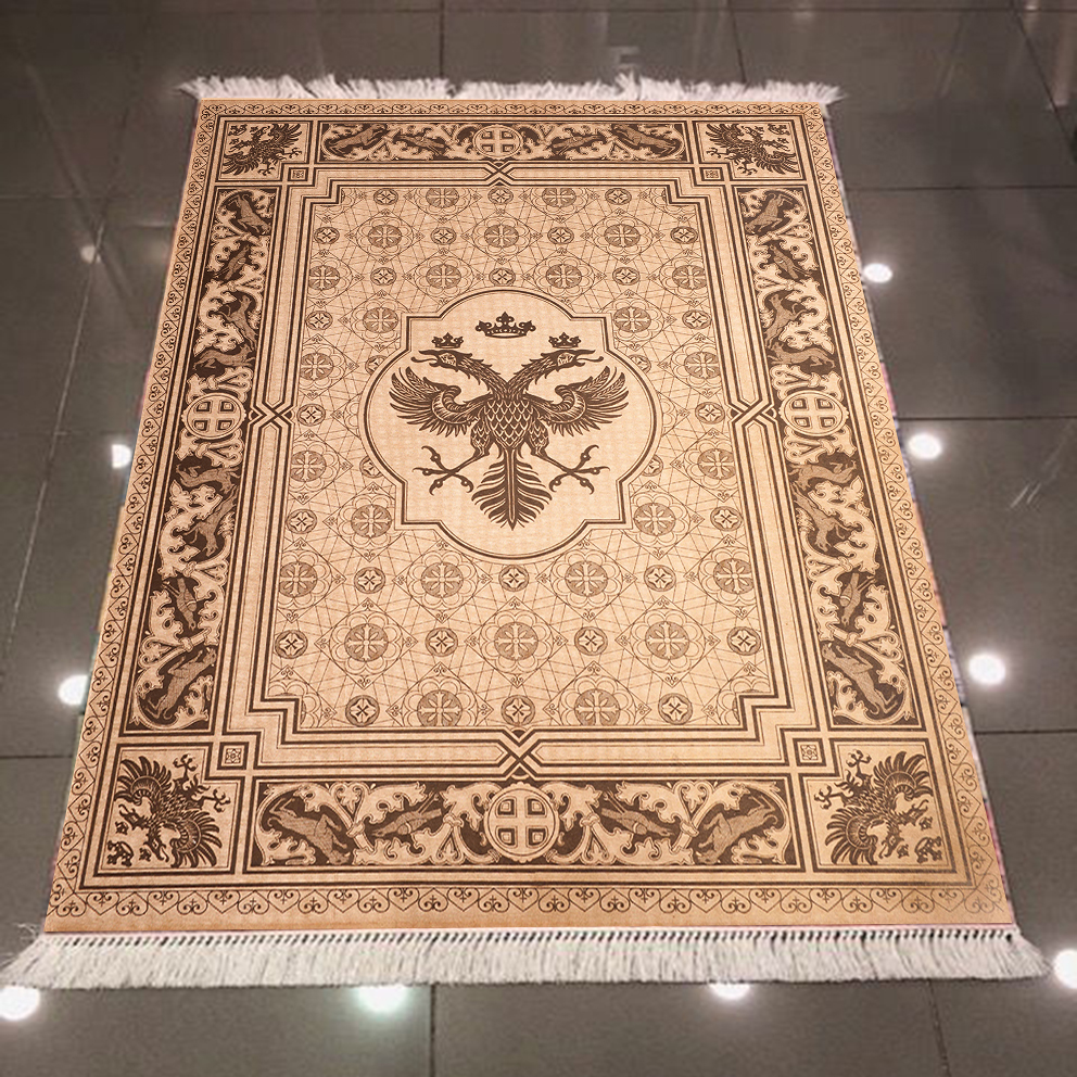 Else Brown Ethnic American Eagle Vintage 3d Pattern Print Microfiber Anti Slip Back Washable Decorative Kilim Area Rug Carpet