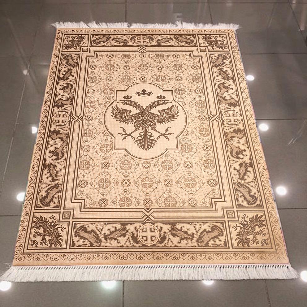 Else Brown Ethnic American Eagle Vintage 3d Pattern Print Microfiber Anti Slip Back Washable Decorative Kilim Area Rug Carpet