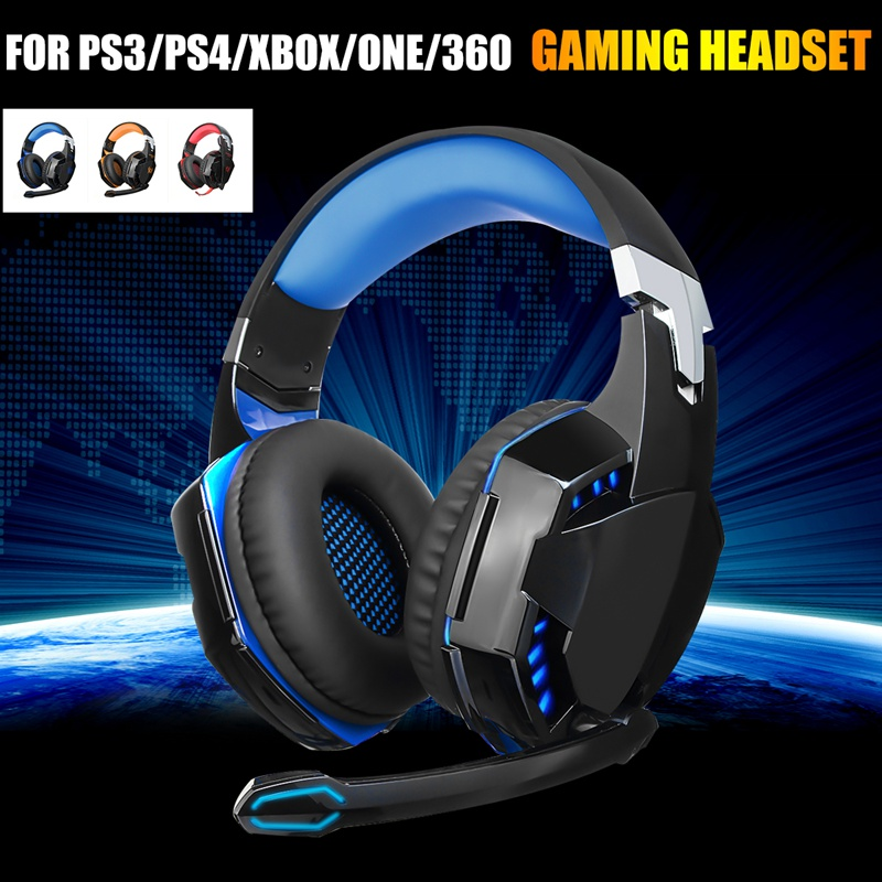 Kinco Wired Gaming Headset LED Light PC Headphones Computer Earphone with Microphone Stereo Surround 3.5mm Laptop Music Headset