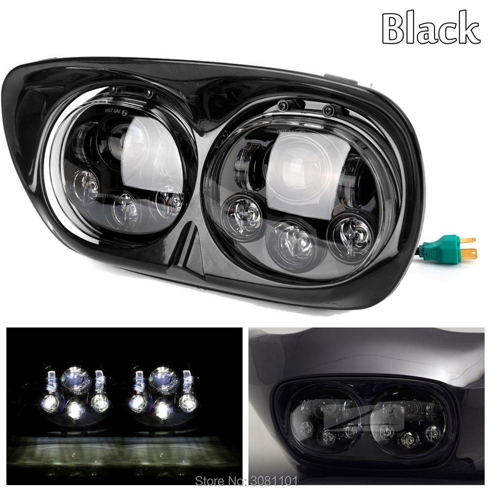 5.75 5-3/4 LED Daymaker Projector Dual Headlight Hi/Low Beam Driving Light for Harley Road Glide Ultra Road Glide FLTR/CVO 5 3 4 led headlight for triumph rocket iii 3