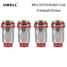8 sztuk oryginalny Uwell NUNCHAKU cewki rdzenia akcesoria do elektronicznego papierosa 0 25ohm 0 4ohm dla Uwell NUNCHAKU zbiornik do e-papierosa tanie tanio Uwell NUNCHAKU Coil Core DS NC 40-50W 45-55W