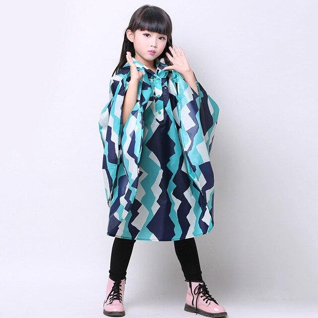 7329bcbe2eac Cloak Type Rain Coat Printed Pattern Children Raincoat Waterproof ...