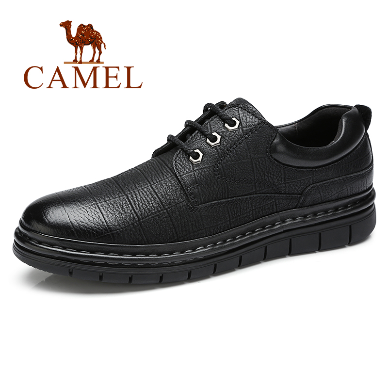 CAMEL New Men's Shoes Genuine Leather Natural Cow Leather Lightweight High Quality Business/Dress/Party/Wedding Shoes Men