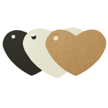 100pcs/set Black/White/Brown Star And Heart Shape Kraft Paper Sticky Notes Card Label Luggage Tags School Office Supplies
