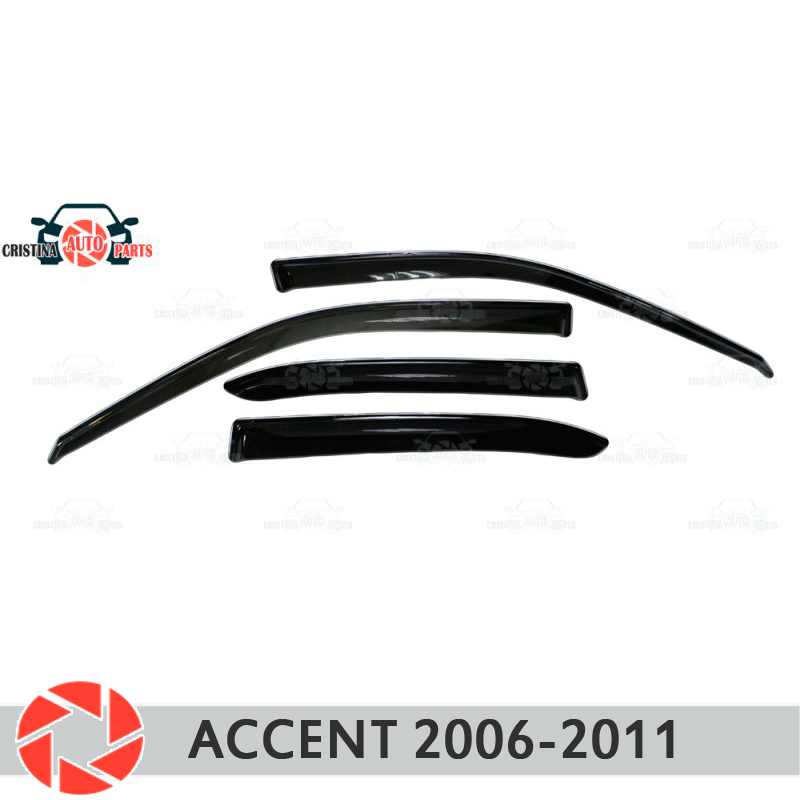 Window deflector for Hyundai Accent 2006-2011 rain deflector dirt protection car styling decoration accessories molding car mats rubber salon 3d premium for hyundai accent 1999 2012