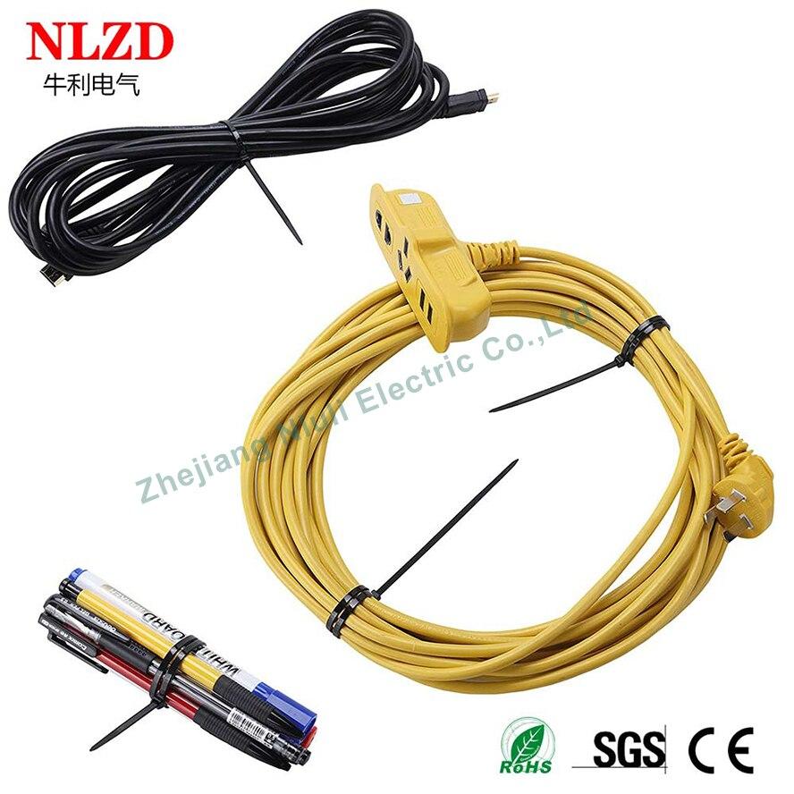Nero Fascette 250mm x 4.8mm Nylon Plastica Elettrico ZIP TIE WRAP Qualità