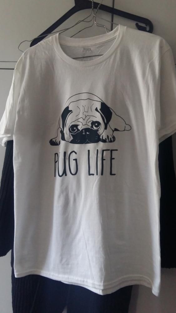 COOLMIND PU0111B 100% cotton women T shirt casual loose design o-neck women cute pug print T-shirt summer Tshirt cute Tee shirt