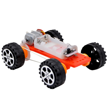 Gear belt four-wheel drive car DIY toy j084b diy small four wheel drive car interesting diy making for adults and children sell at a loss