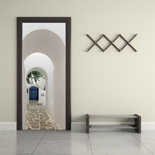 Greek Porch Door Sticker 3D