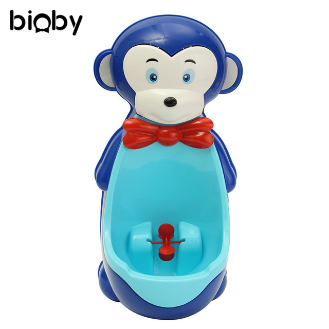 monkey shape children urinal potty toilet training kids urinal for boys bathroom pee trainer baby kids