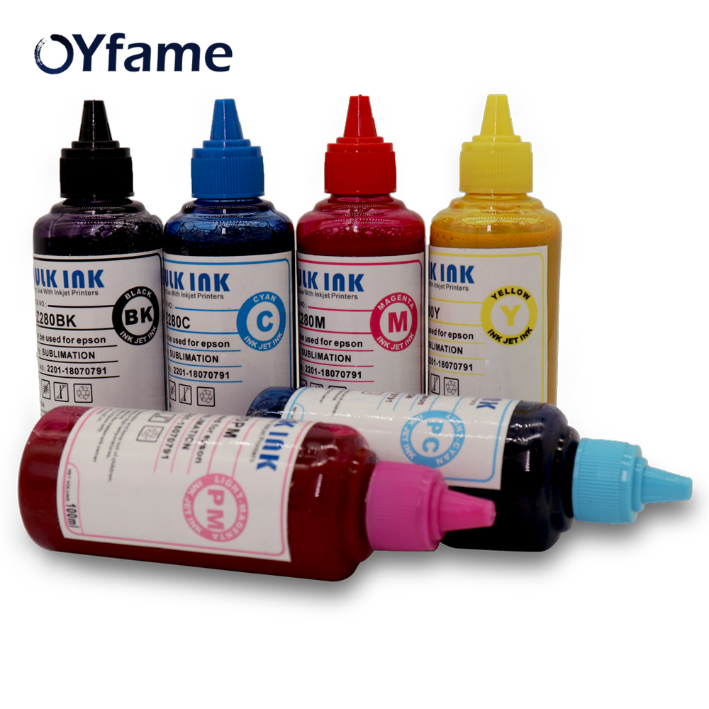 OYfame High Quality Universal Sublimation Ink 6 color For Epson T50 L800 For Heat Press Machine transfer ink for Inkjet printerOYfame High Quality Universal Sublimation Ink 6 color For Epson T50 L800 For Heat Press Machine transfer ink for Inkjet printer