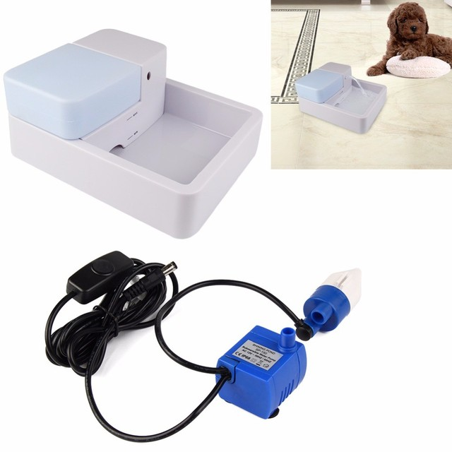 1.8L Led Automatic Cat Dog Kitten Water Drinking Fountain Pet Bowl Drink Dish Filter Pet Water Fountain Support Drop shipping 2